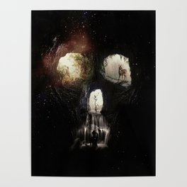 Cave Skull Poster