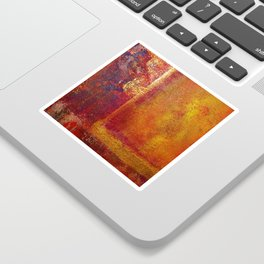 Abstract Art Color Fields Orange Red Yellow Gold Sticker
