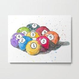 Pool balls Metal Print