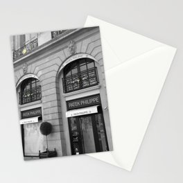 Paris luxe black and white with color GOLD Stationery Cards