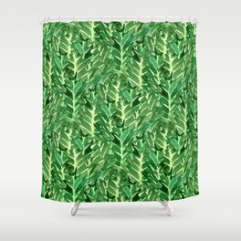Holly Jolly Leaves (Small Pattern) Shower Curtain