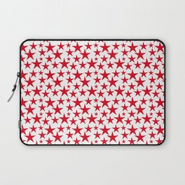Red stars on white background illustration Laptop Sleeve