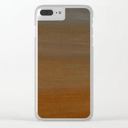 Light Orange Tones Clear iPhone Case