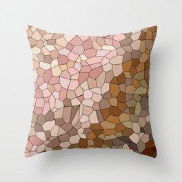 Skin Tone Mosaic Throw Pillow