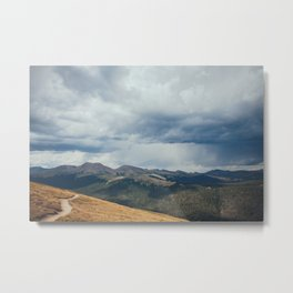 Summer Rainstorm over Rocky Mountain National Park Metal Print