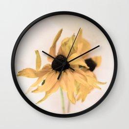 Yellow rudbeckia Wall Clock