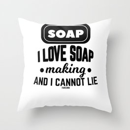 Soap shower wash Body Care Throw Pillow