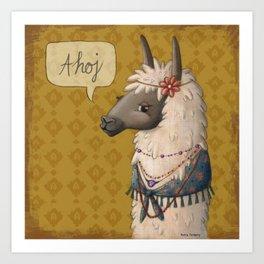 Bohemian Llama Art Print