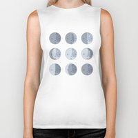moon phases Biker Tanks featuring Moon Phases by Katie Boland