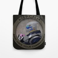 garrus Tote Bags featuring Garrus by Fyrielle