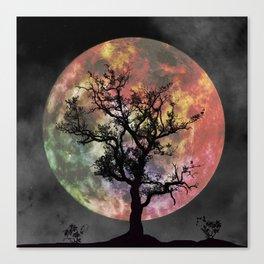 Nature's Cosmically Vigilant Moon Canvas Print