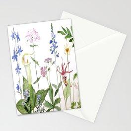 Botanical Garden Flower Wildflower Watercolor Art Stationery Cards
