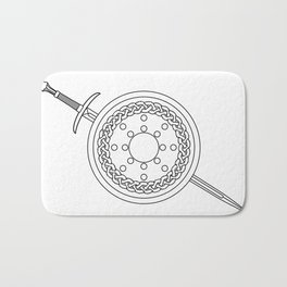 Claymore and Shield Outline Bath Mat