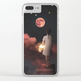 Collecting Stars Digital Collage Clear iPhone Case