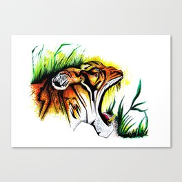 Tiger In The Wild Canvas Print