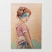 oil Canvas Prints featuring Within White by Michael Shapcott