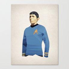 Polygon Heroes - Spock Canvas Print