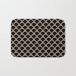 ARC beige arches on black repeating pattern Bath Mat