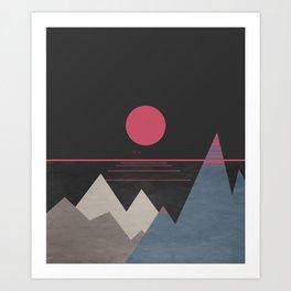 Minimal Sunset 10 Art Print
