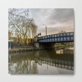 Foundry Bridge over the River Wensum Metal Print