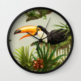 Toco Toucan vintage illustration. Wall Clock