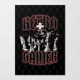 Chess Retro Gamer Canvas Print