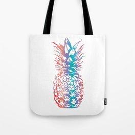 Aloha Pineapple Colorful Hawaiian Hawaii HI Vacation Paradise Tote Bag
