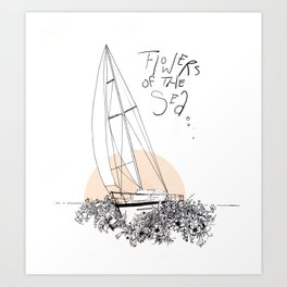 Sea of Flowers Art Print