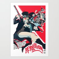 revolution Art Prints featuring Revolution! by yamineftis