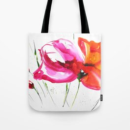 Abstract flower colorful painting Tote Bag