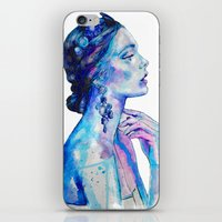 queen iPhone & iPod Skins featuring Queen by Andreea Maria Has
