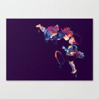 ponyo Canvas Prints featuring Ponyo by lauramaahs