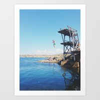 forever young Art Prints featuring Forever Young by Johanna Lejon