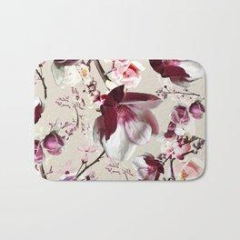 Magnolia cherry blossum Bath Mat