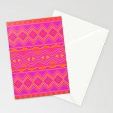 Tribal Pattern (Pink & Orange) Stationery Cards