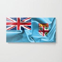 Fiji Flag Metal Print
