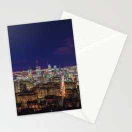 Montreal Nightlights Stationery Cards