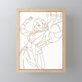 Aesthetic creative fashion lineart illustration Framed Mini Art Print