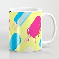 popsicle Mugs featuring Popsicle by Sher Mavro ART
