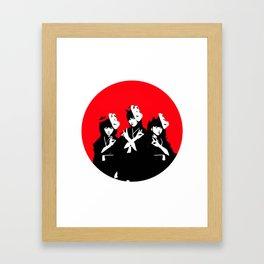 Japanese Metal Girls Framed Art Print