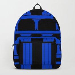 Bright Bold Blue Lines Design Backpack