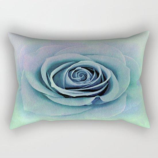 Tender Love Blue -Lavender Rose Abstract Rectangular Pillow