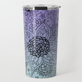 Flower Zen: Purple Fade Travel Mug