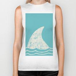 Beach Series Aqua - Shark Animal in the deep See Biker Tank