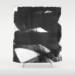 b+w strokes 2 Shower Curtain