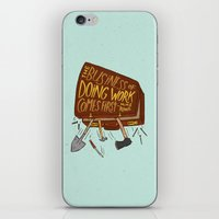 mike wrobel iPhone & iPod Skins featuring Mike Rowe by Josh LaFayette