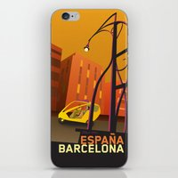barcelona iPhone & iPod Skins featuring Barcelona by Shirong Gao