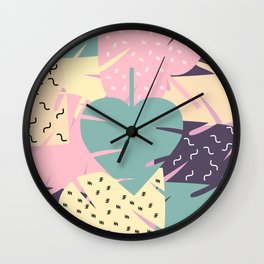 Soft leaves Wall Clock