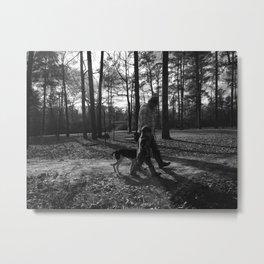 hunter and child Metal Print