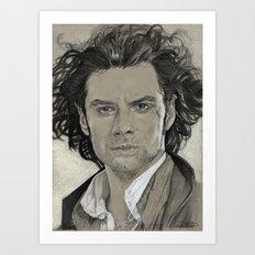 Aidan Turner: Poldark Art Print